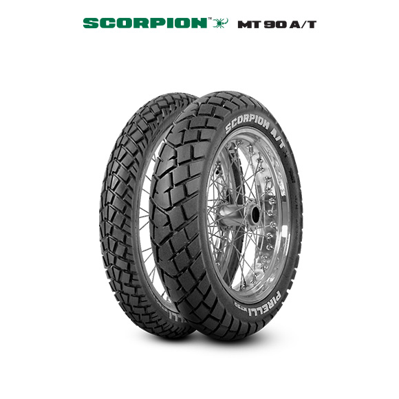 MT 90 A/T SCORPION tire for HONDA NX 650 Dominator  (1991>1994) motorbike