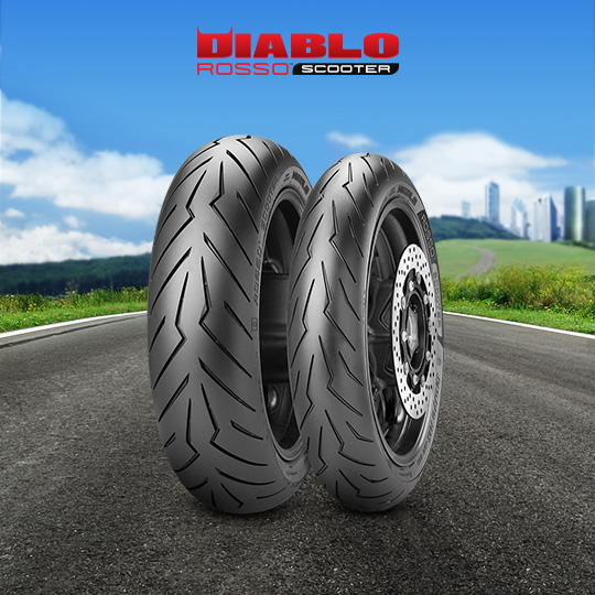 DIABLO ROSSO SCOOTER tire for YAMAHA Majesty YP 400; A  (> 2004) motorbike