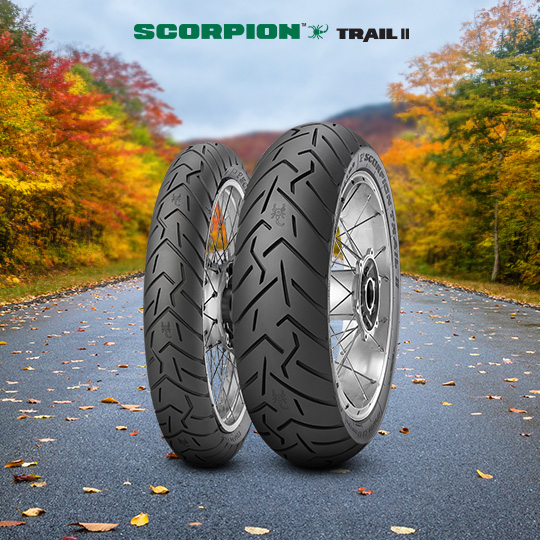 SCORPION TRAIL II tire for HONDA XRV 750 Africa Twin  (> 1993) motorbike