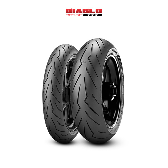 DIABLO ROSSO III tire for KAWASAKI ER-6n (all versions)  (2012>2016) motorbike