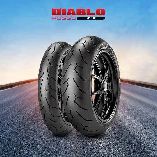 DIABLO ROSSO II tire for KAWASAKI ER-6n (all versions)  (2012>2016) motorbike