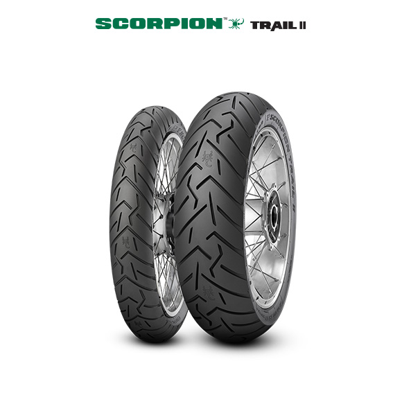 SCORPION TRAIL II tire for KAWASAKI KLE 500  MY  (> 2005) motorbike