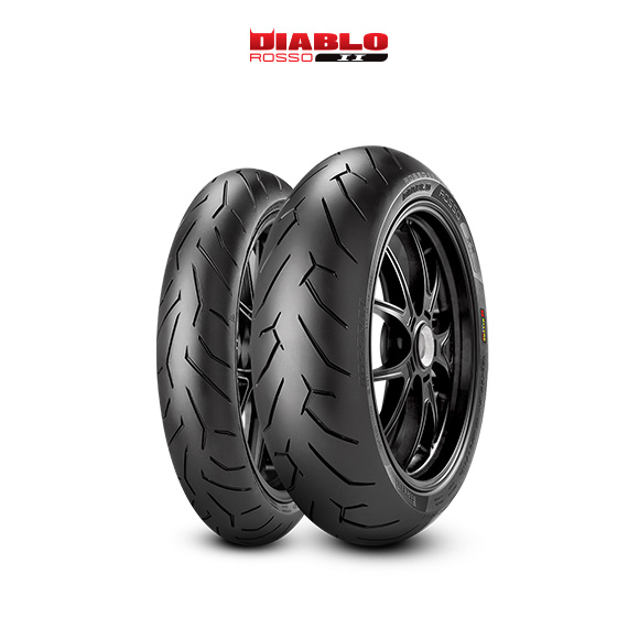 DIABLO ROSSO II tire for KAWASAKI Z 1000 (all versions)  (2010>2013) motorbike