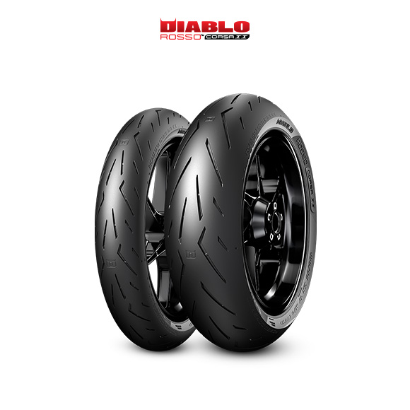 DIABLO ROSSO CORSA II tire for KAWASAKI ER-6n (all versions)  (2012>2016) motorbike