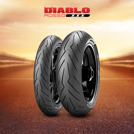DIABLO ROSSO III tire for KAWASAKI Z 1000 (all versions)  (2010>2013) motorbike