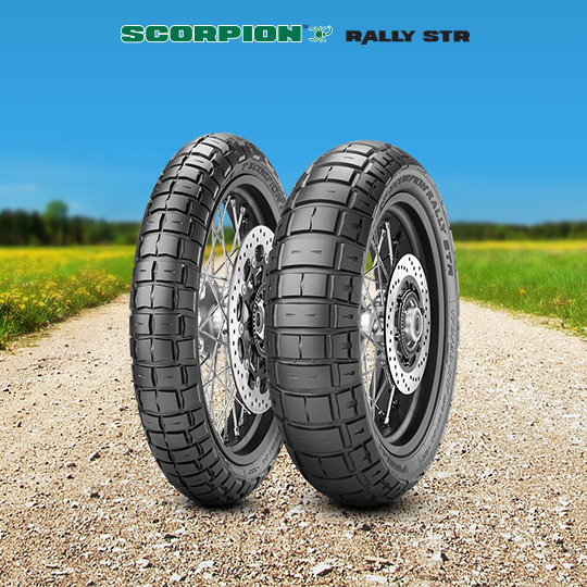 Pneu SCORPION RALLY STR pour moto HONDA XL 600 LM; RM