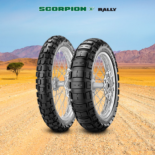 SCORPION RALLY motorbike tyre for on / off road